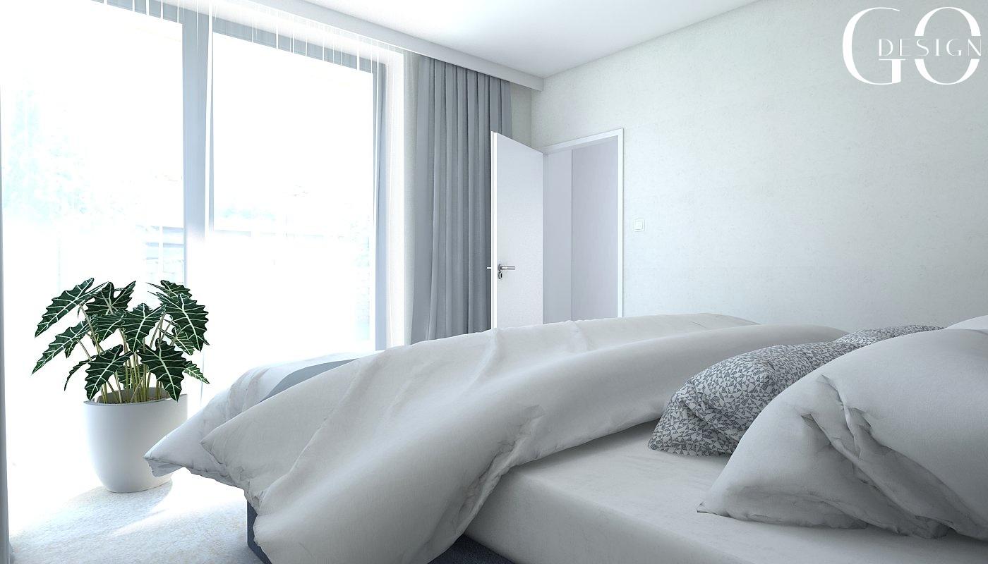 interiérový návrh spálňa GO DESIGN