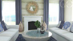 interiérový dizajn chata