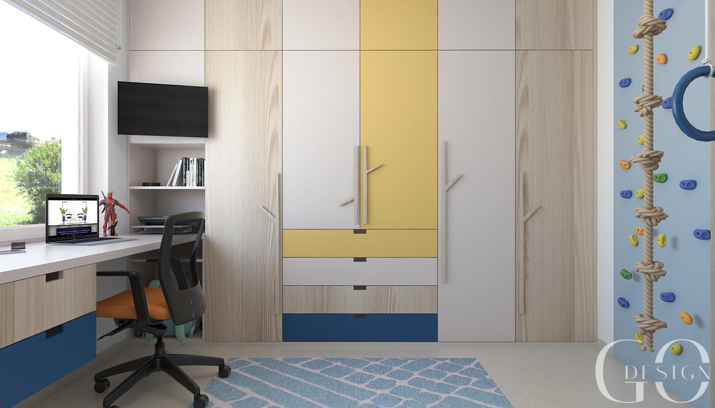 Detska izba interierovy dizajn navrh GO DESIGN kosice 4