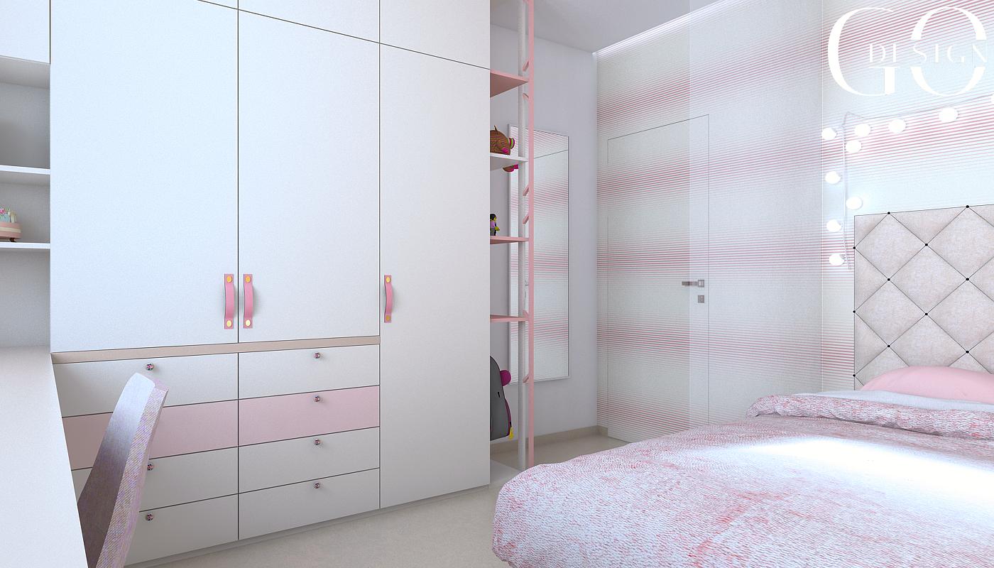 Detska izba interierovy dizajn navrh GO DESIGN kosice 7
