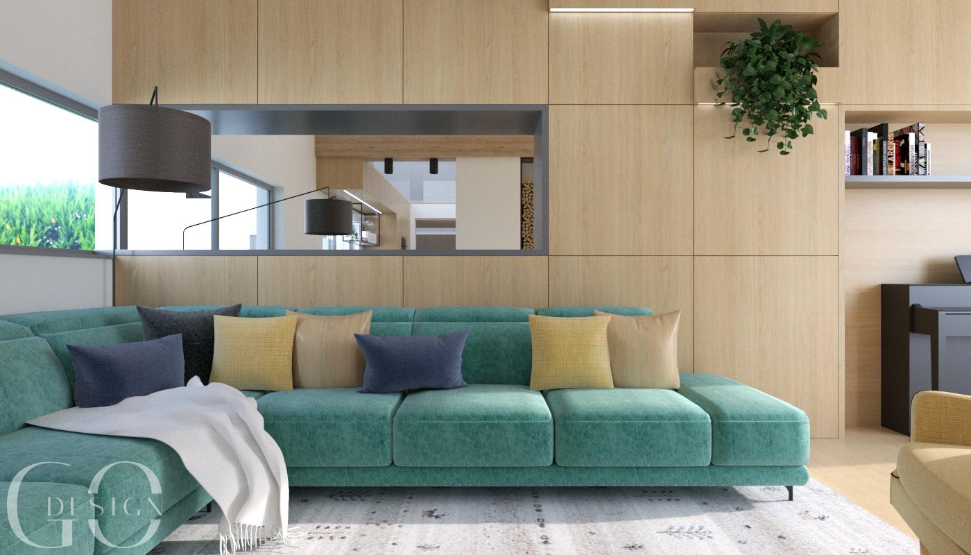 návrh obývačka design