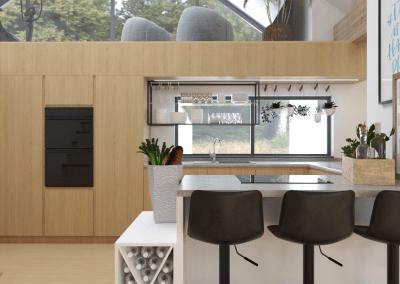 Návrh domu v prírodnom, minimalistickom štýle – Bratislava