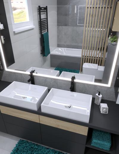 Návrh kúpeľne GO DESIGN_